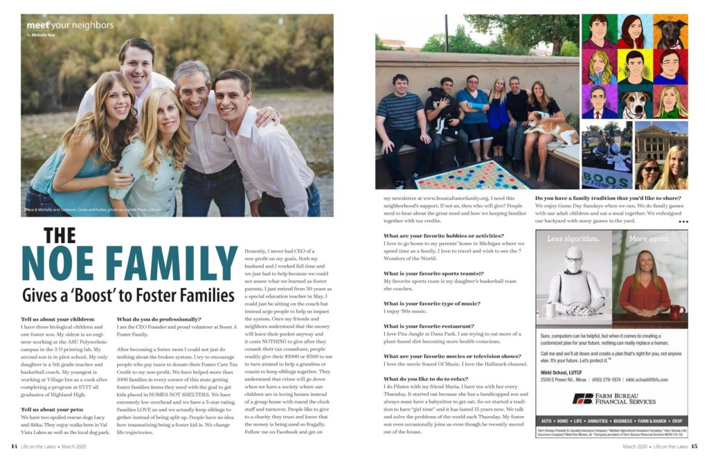 """The Noe Family Gives a """"Boost"""" to Foster Families"""